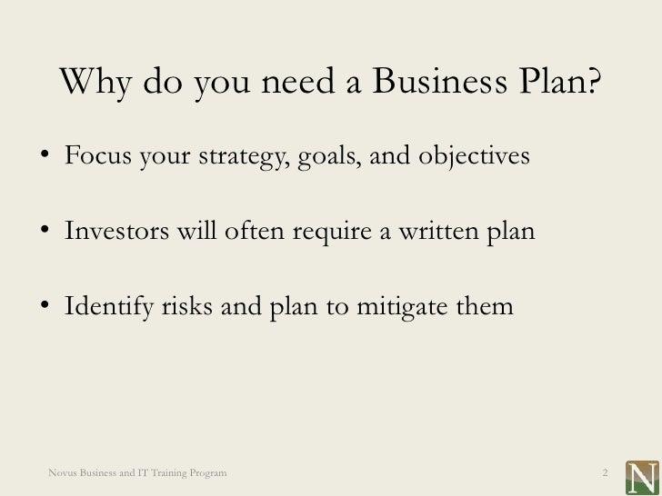 Need a business plan written