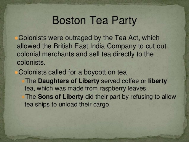 Case Study - Boston Tea Party