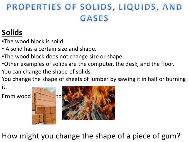Lesson 2properties Of Solids Liquids And Gases on Three States Of Matter Worksheet