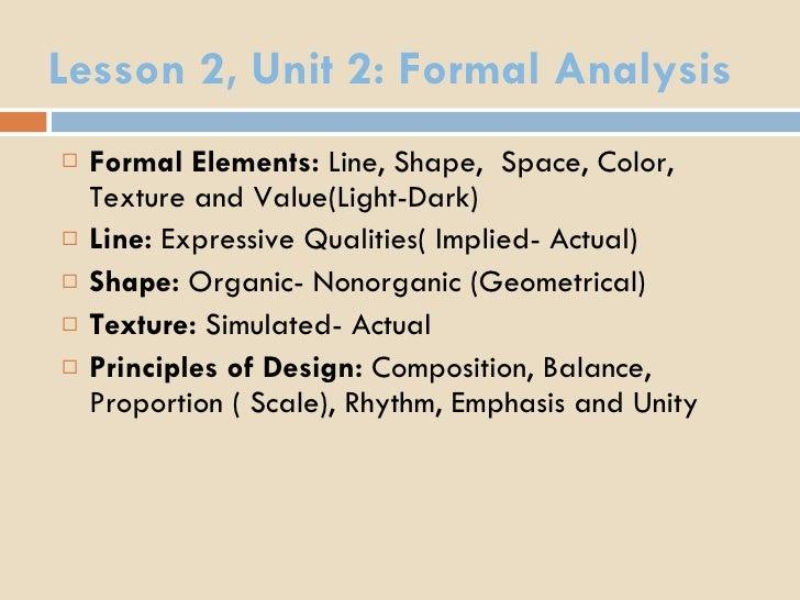 formal analysis essay format