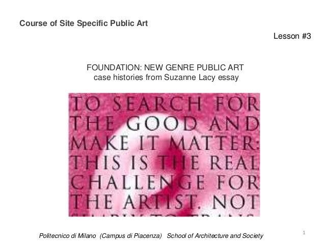 Course of Site Specific Public Art                                                                                     Les...