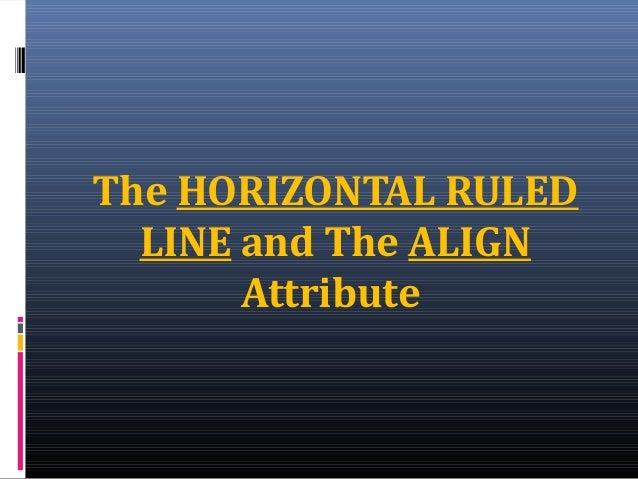 Horizonal ruled line