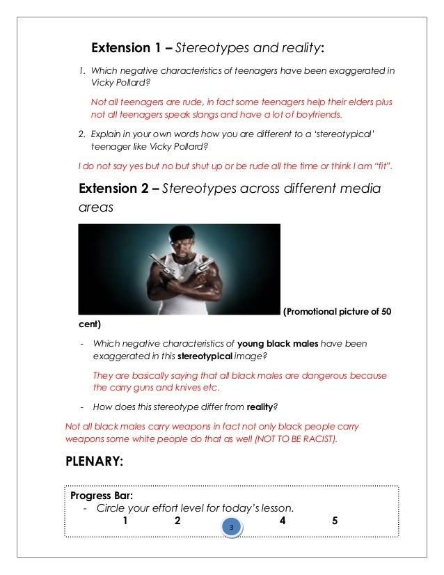 Worksheet Stereotype Worksheets lesson 3 media stereotypes worksheet 3