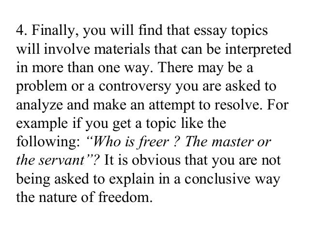 Topic for an English 101 Essay Paper?