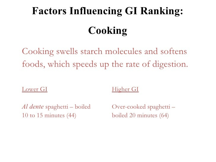 factors affecting spaghetti There are several factors that affect the characteristics of cooked pasta such as semolina protein quality and quantity, drying conditions and.