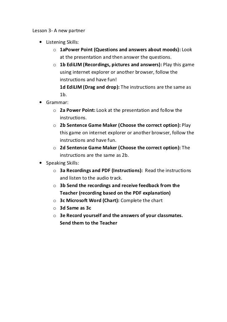Lesson 3 guide