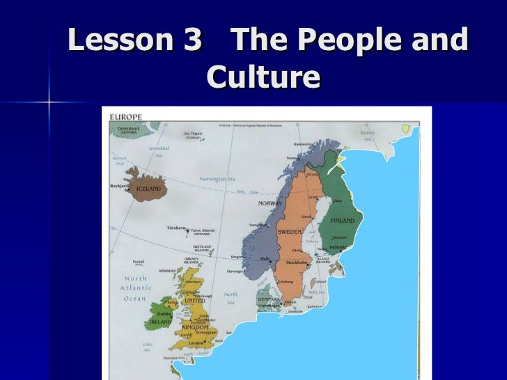 Lesson 3  The People and Culture