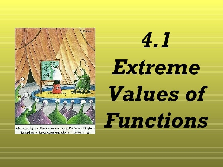 Lesson 4.1 Extreme Values