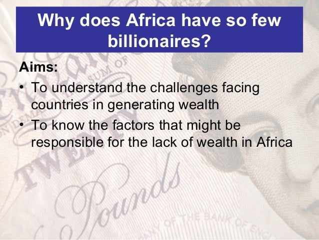 why is africa so poor Africa is poor, but we can try to help its people it's a simple statement, repeated through a thousand images, newspaper stories and charity appeals each year, so.