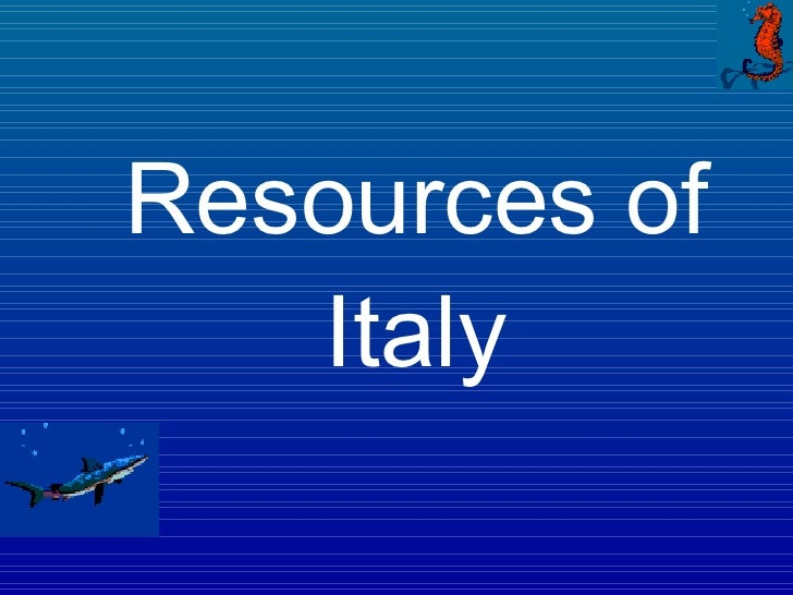 Resources of Italy