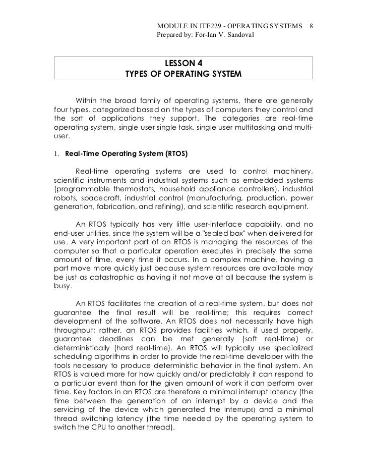MODULE IN ITE229 - OPERATING SYSTEMS 8                               Prepared by: For-Ian V. Sandoval                     ...