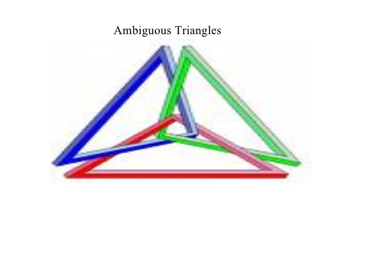 Ambiguous Triangles