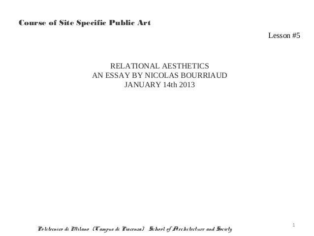 Course of Site Specific Public Art                                                                                    Less...