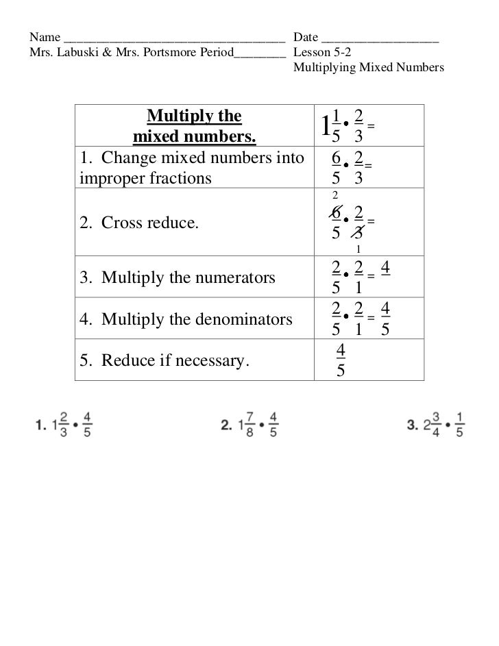 Lesson 5 2 mulitplying mixed numbers
