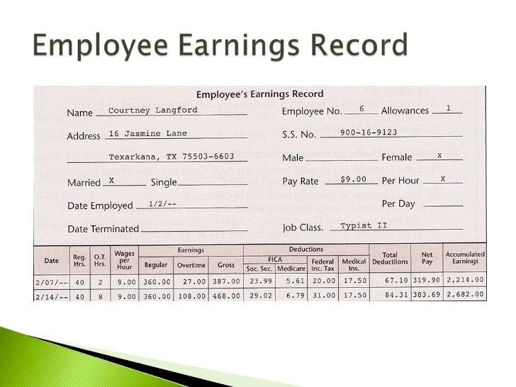 payroll records templates
