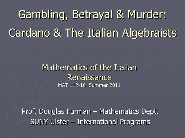 Lesson 5 gambling, betrayal & murder   algebra