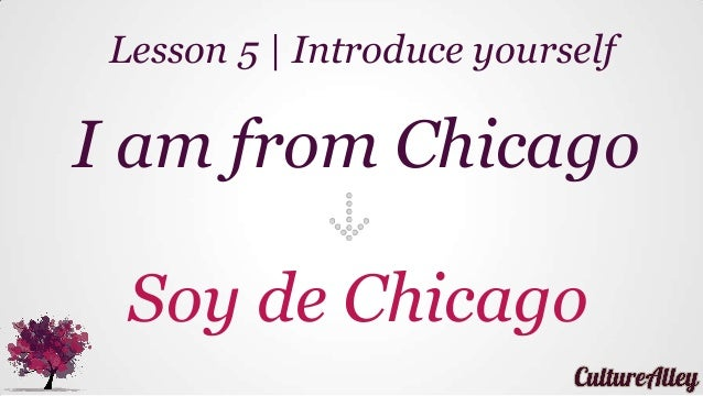 I am from Chicago Soy de Chicago Lesson 5 | Introduce yourself