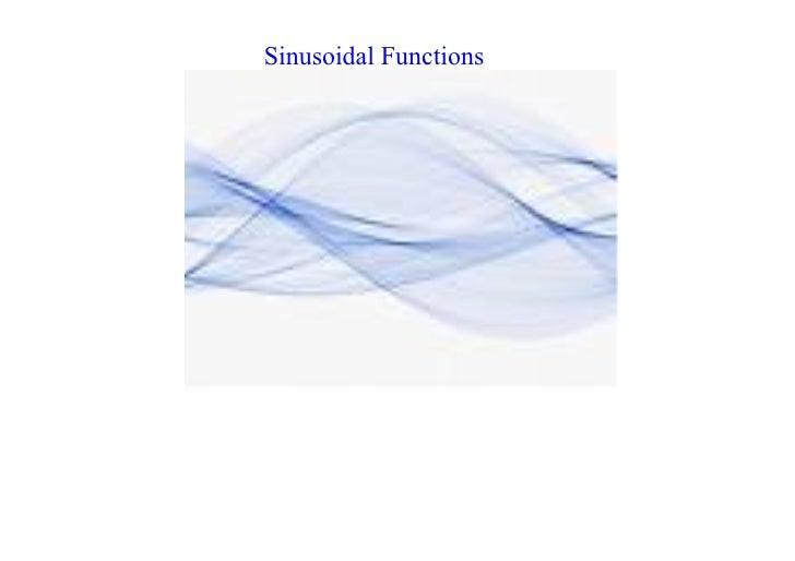 SinusoidalFunctions