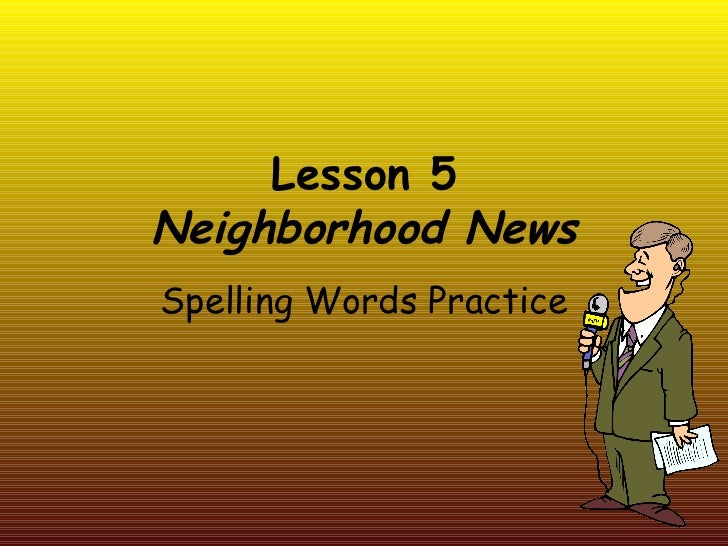 Lesson 5 spelling powerpoint