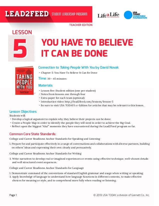 Lesson 5: Teacher Edition