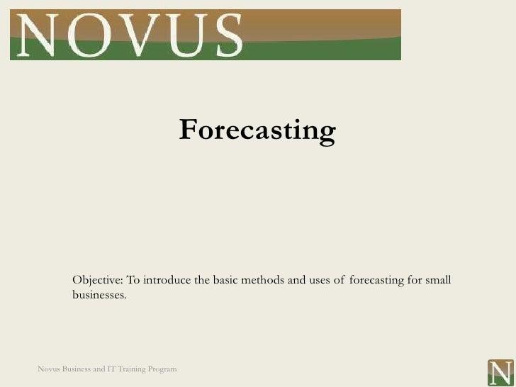 Lesson 6: Forecasting