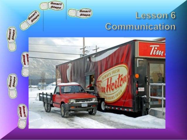 Lesson 6 Communication