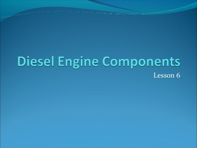 Diesel enginecomponents