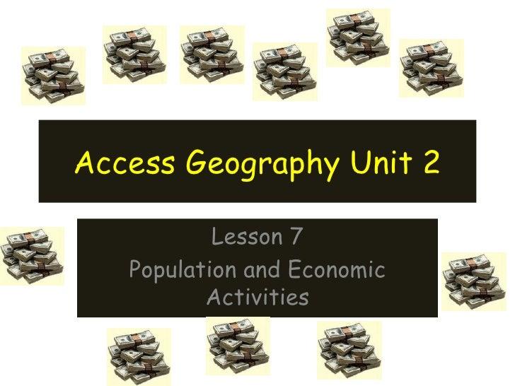 Lesson 6 Population and Economy