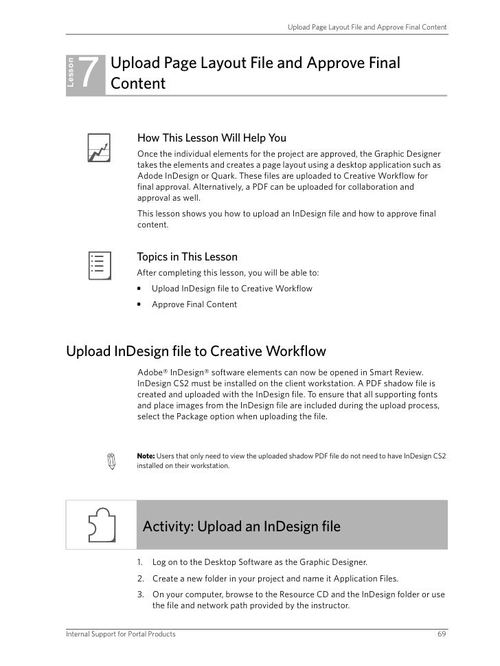 Upload Page Layout File and Approve Final Content              7    Upload Page Layout File and Approve Final Lesson      ...