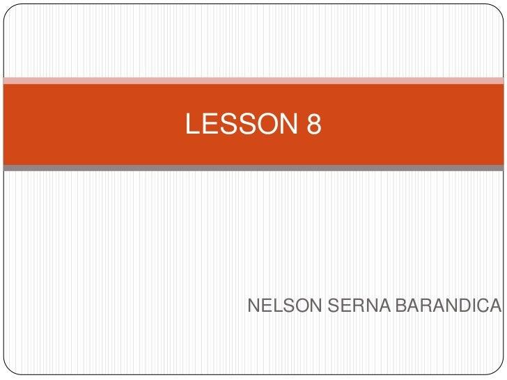 Lesson 8