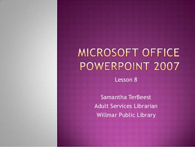 Install Microsoft Word Powerpoint 2007