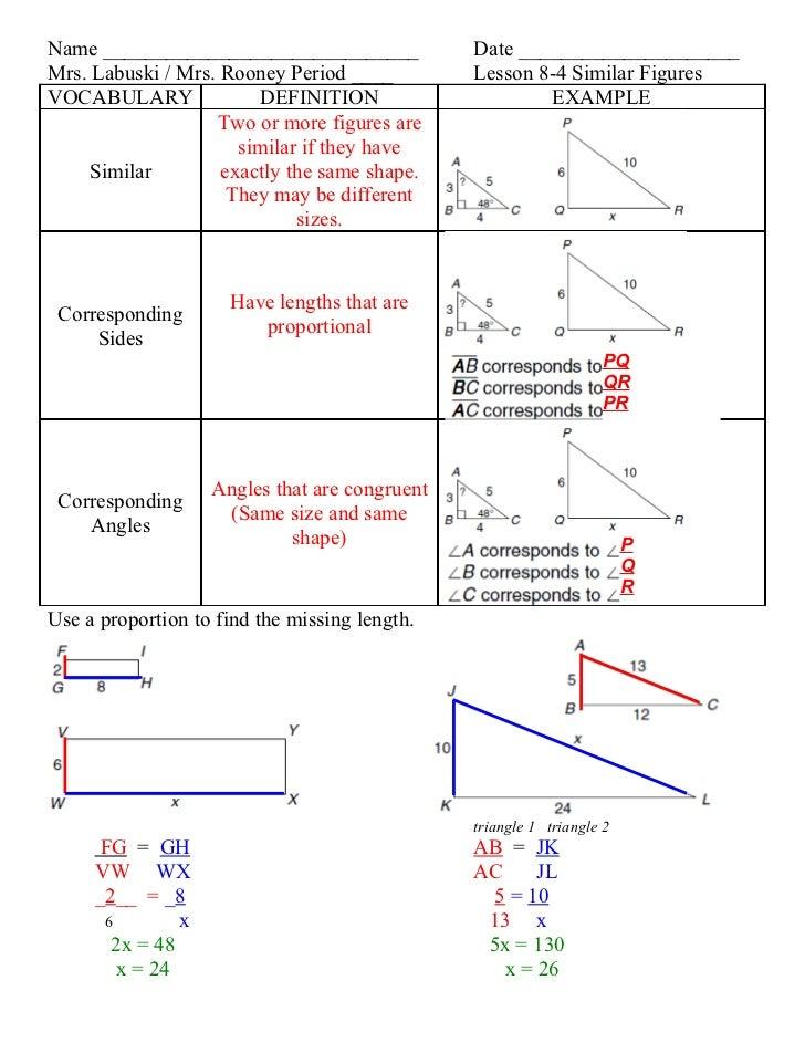 Lesson 8 4 similar figures