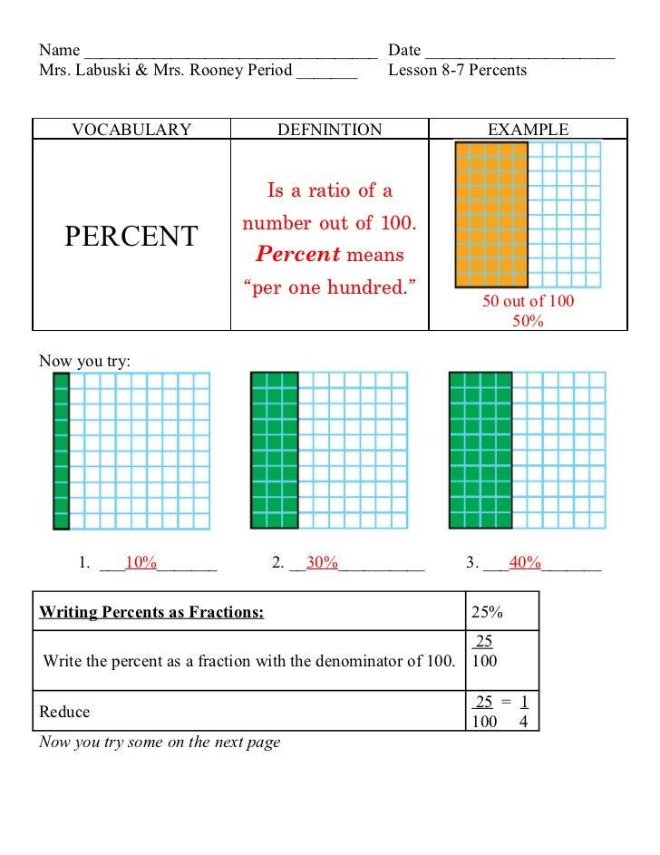 Lesson 8 7 precents