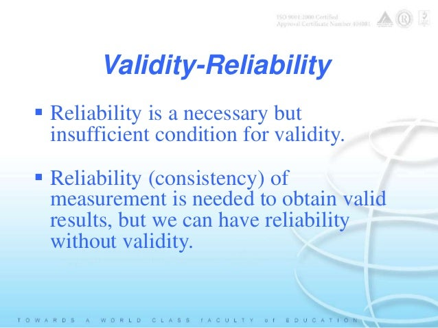 What is validity and reliability in reading?