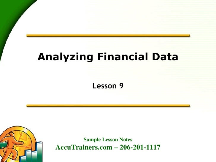 Analyzing Financial Data Lesson 9