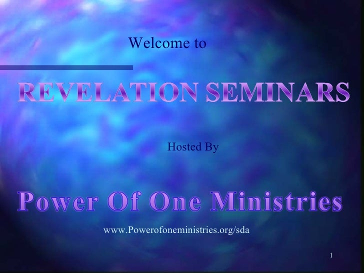 Welcome to Hosted By www.Powerofoneministries.org/sda