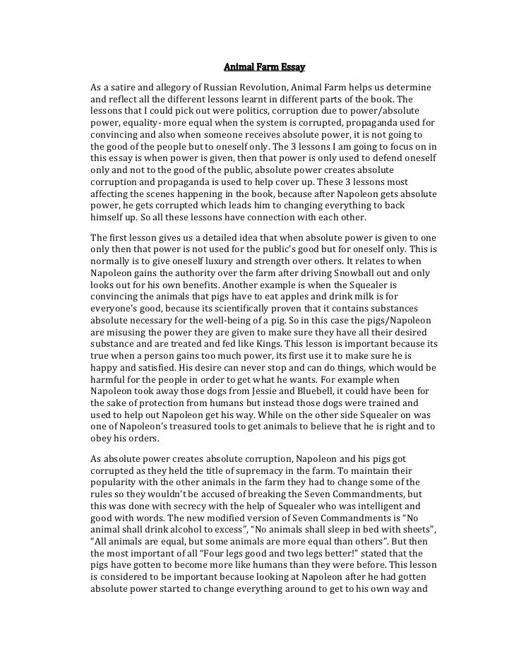 Napoleon Animal Farm Essay Assignment - image 10