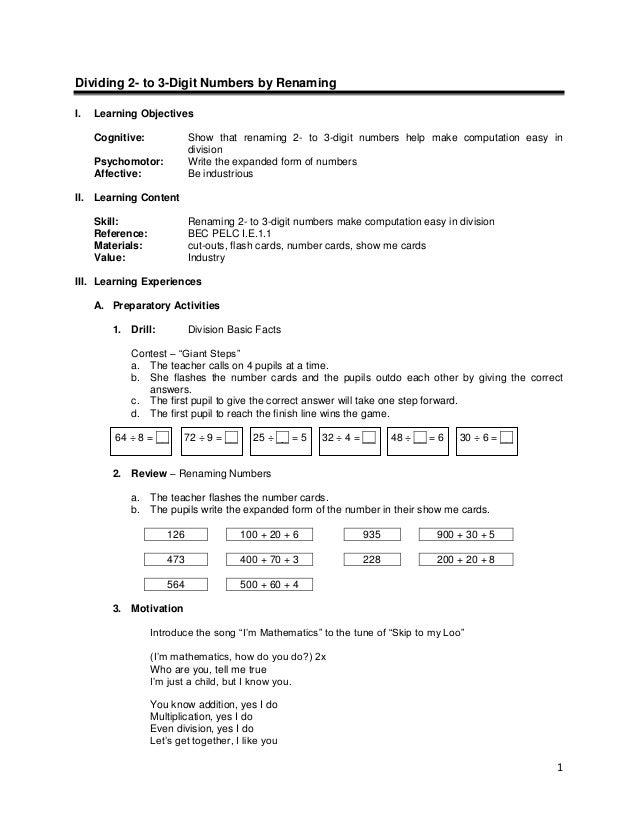 Lesson guide gr. 3 chapter i -division v1.0