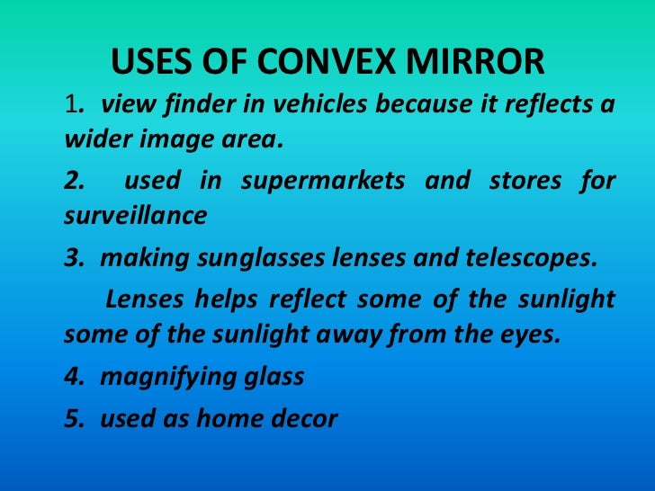 Lesson in physics wave and its properties for Uses of mirror