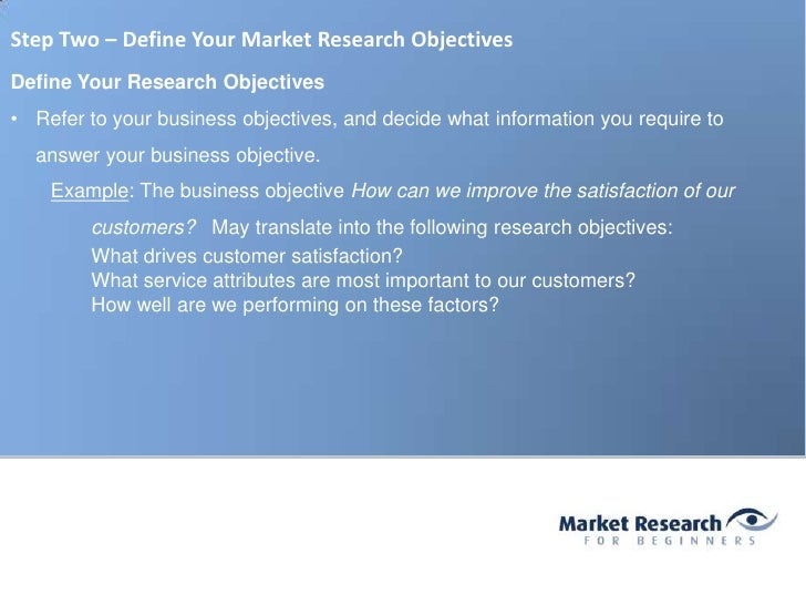 market research objectives examples