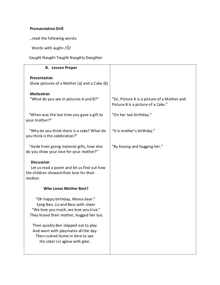 sample detailed lesson plan in english A detailed lesson plan-developmental reading in the typical english classroom this is usually about stray cables and a detailed lesson plan in mapeh.