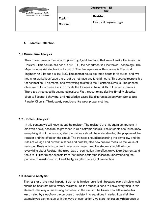 lesson plan in resistor Page 1 - lesson 2: soldering introduction: its time to learn how to solder so you have met all the components needed to  resistor) this is a clever little.