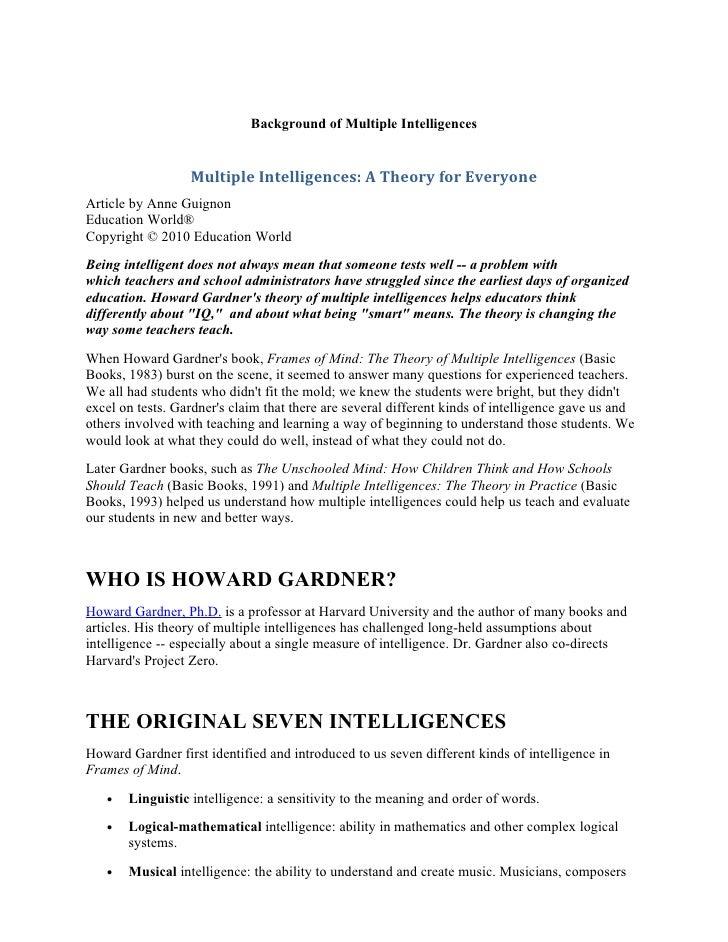 math worksheet : lesson plan multiple intelligences revised : Multiple Intelligence Worksheet