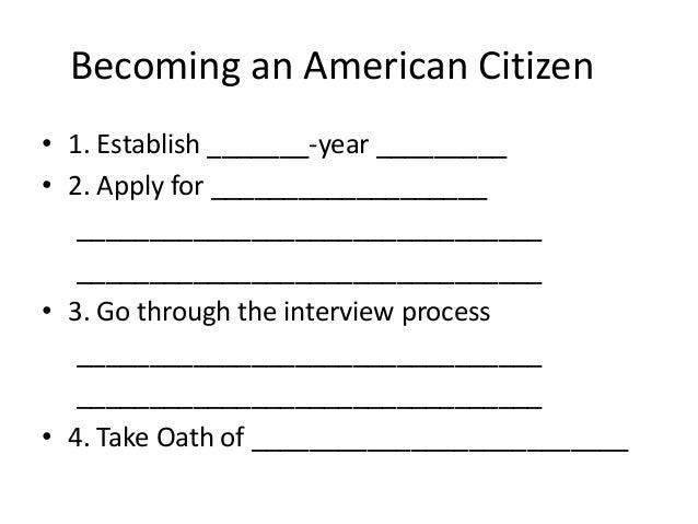 Characteristics of an American?