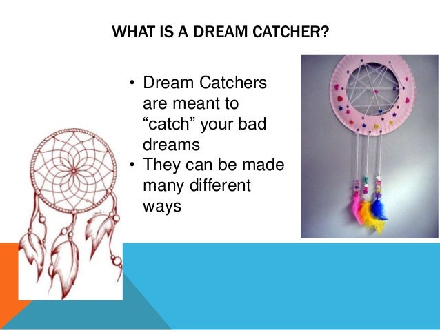 Dream catcher lesson plan for What do dreamcatchers do