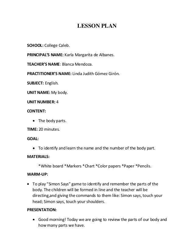 Lesson plan 5 y 6 linda