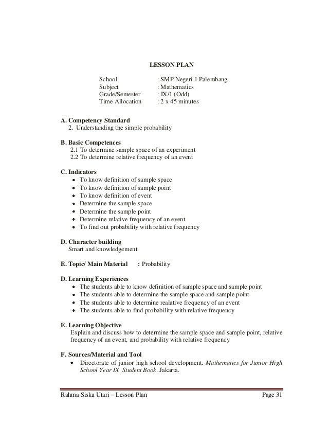 Example Of Detailed Lesson Plan In Secondary English Essay Service