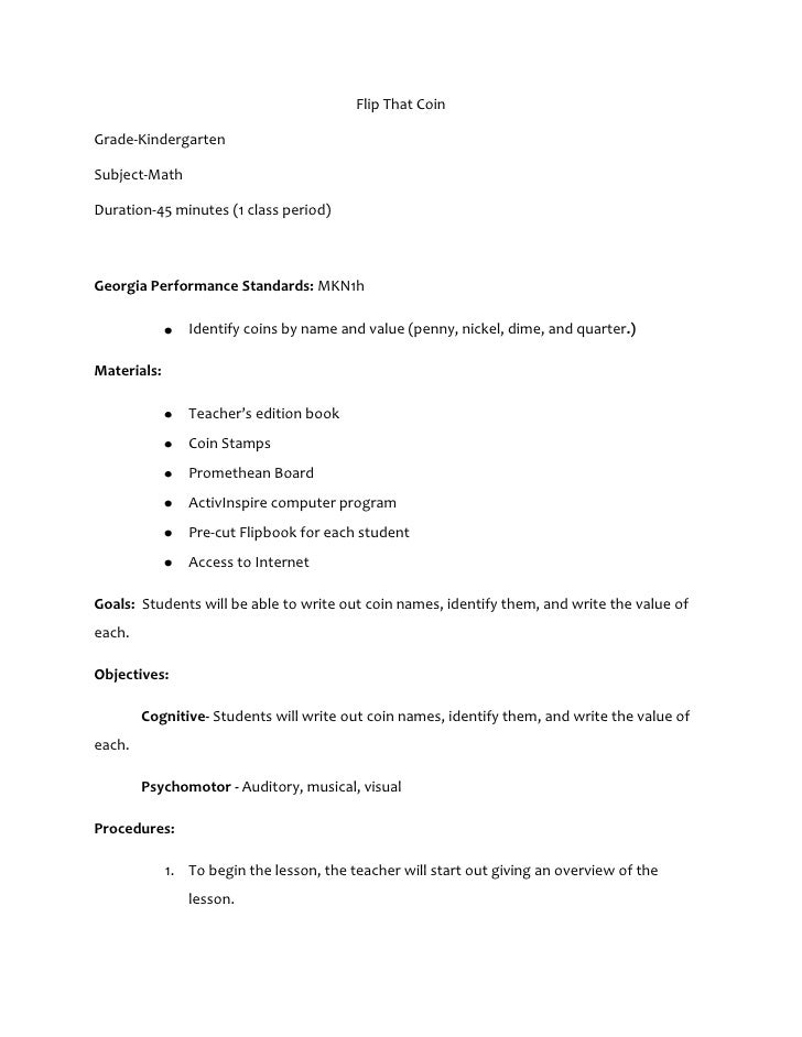 Flip That CoinGrade-KindergartenSubject-MathDuration-45 minutes (1 class period)Georgia Performance Standards: MKN1h      ...