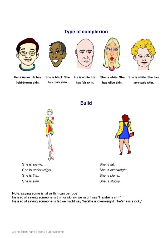 personality and appearance Learn how to describe people's appearance and personality do some exercises to help you master the content in this powerpoint presentation you'll learn how to describe people's appearance and personality using adjectives after you finish the presentation, you'll have to do some practice.