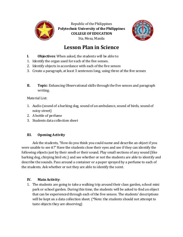 Republic of the Philippines Polytechnic University of the Philippines COLLEGE OF EDUCATION Sta. Mesa, Manila Lesson Plan i...